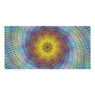 Psychedelic spiral picture card