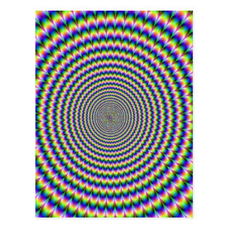 PSYCHEDELIC SPIRAL POST CARD