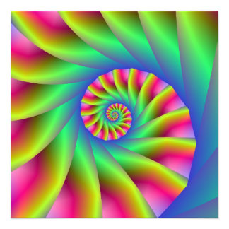 Psychedelic Spiral Steps Photo Print