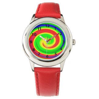 Psychedelic spirals watch
