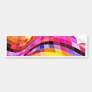 Psychedelic Square Pattern Bumper Stickers