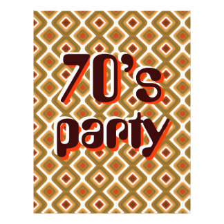 Psychedelic squares Seventies party 21.5 Cm X 28 Cm Flyer