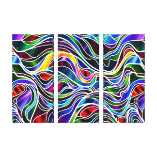 Psychedelic Stained Glass Abstract Canvas Print