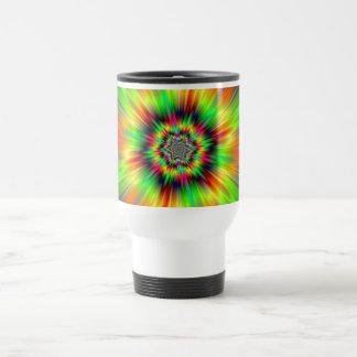 Psychedelic Star Burst Travel Mug