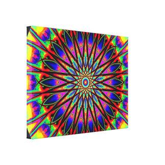 Psychedelic Star Mandala Canvas Print