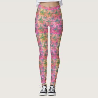 psychedelic star print leggings