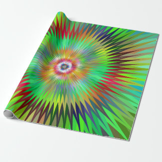 Psychedelic Starburst Fractal Wrapping Paper