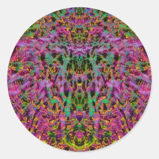 Psychedelic Starburst Sticker