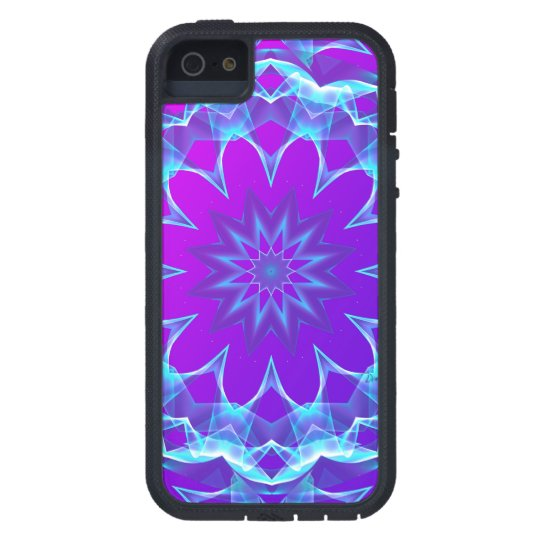 Psychedelic Stars, Abstract Violet Purple Glow iPhone 5 Case