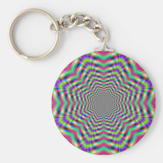 Psychedelic Stars in Stars Key Chain