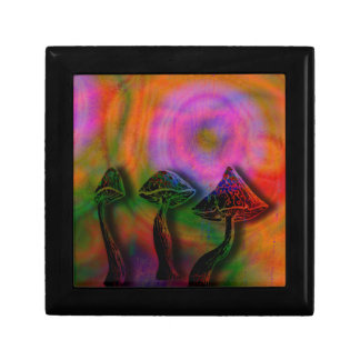 Psychedelic stash small square gift box