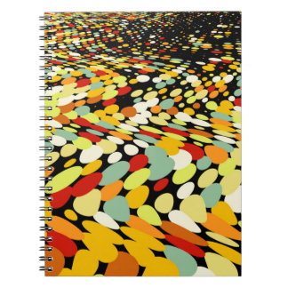 Psychedelic Stone Path Pattern Notebook