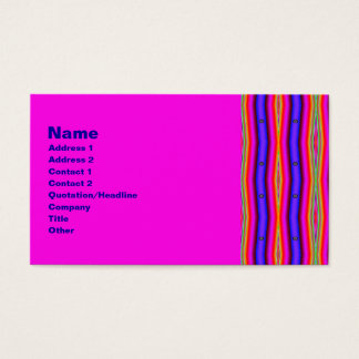 psychedelic stripes business card