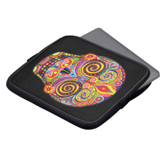 Psychedelic Sugar Skull Laptop Sleeve