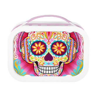 Psychedelic Sugar Skull Lunchbox - Day of the Dead