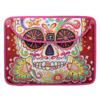 Psychedelic Sugar Skull Macbook Pro Sleeve