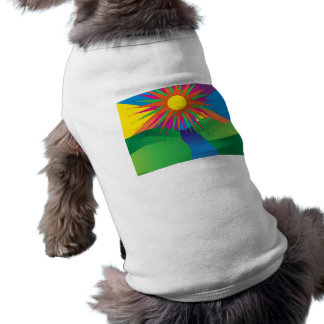 Psychedelic Sun Sleeveless Dog Shirt