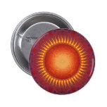 Psychedelic Sun: Spiral Fractal Design 6 Cm Round Badge