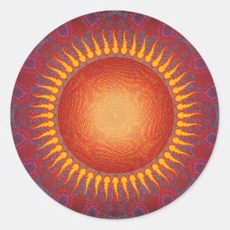 Psychedelic Sun Spiral Fractal Design Stickers