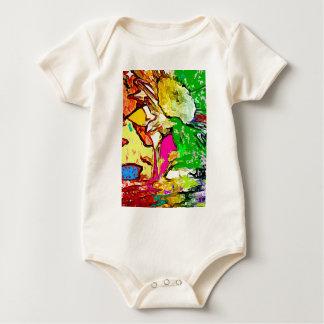 Psychedelic Sunflower Baby Bodysuit