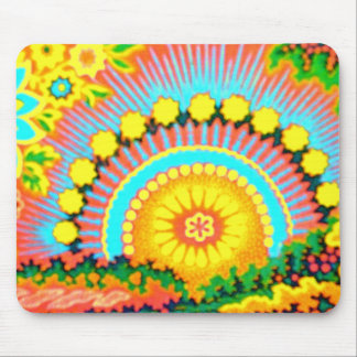 Psychedelic Sunset 60 s Vintage Mousepad