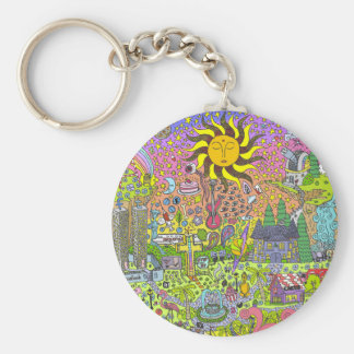 PSYCHEDELIC SUNSET KEY RING