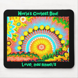 Psychedelic Sunset worlds coolest dad Mousepad