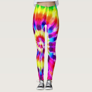 Psychedelic Supernova Rainbow Tie Dye Leggings