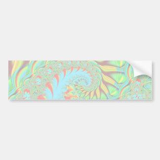 Psychedelic Swirl Art Fractal Bumper Sticker