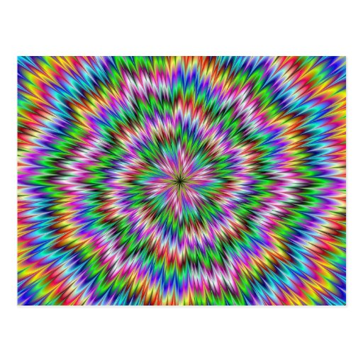 Psychedelic Swirl Postcard