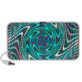 Psychedelic Swirl Rave Waves Mp3 Speaker