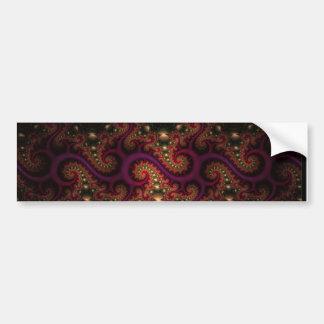 psychedelic swirls bumper sticker