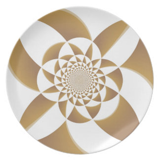 Psychedelic Tan Plate