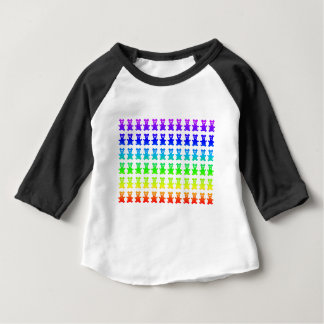 Psychedelic teddy bears. baby T-Shirt