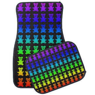 Psychedelic teddy bears. car mat