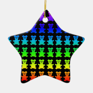 Psychedelic teddy bears. christmas ornament