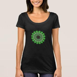 Psychedelic tee-shirt Mandala Chakra Green T-Shirt
