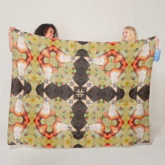 Psychedelic Tesla Liquid Mandala Quilt Pattern Fleece Blanket