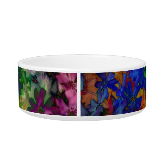 Psychedelic tie dye flowered dog or cat dish! bowl