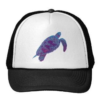 Psychedelic Tie-Dye Sea Turtle Hat