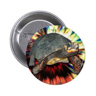 Psychedelic Tortoise 6 Cm Round Badge