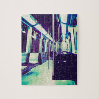 Psychedelic train trip jigsaw puzzle