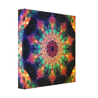 Psychedelic Travel Mandala Canvas Print