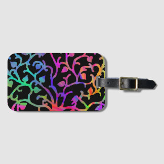 Psychedelic Tree of Life Luggage Tag