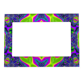 Psychedelic Trippy Pattern Photo Frame Magnets