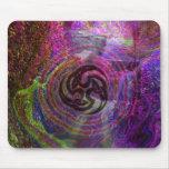 psychedelic triskel mouse mat