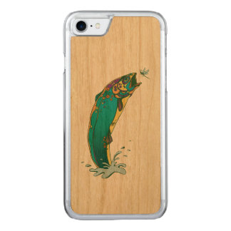 Psychedelic Trout Carved iPhone 8/7 Case