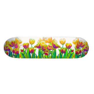 Psychedelic Tulips Skateboard