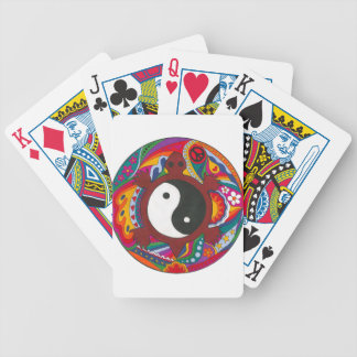 Psychedelic Turtle Yin Yang Bicycle Playing Cards