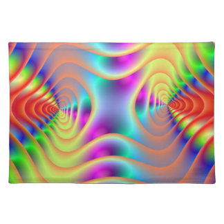 Psychedelic Twin Spirals Placemats
